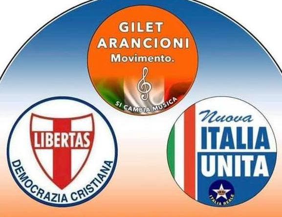 ANCHE LA DEMOCRAZIA CRISTIANA SOSTIENE LA RACCOLTA FIRME DEI GILET ARANCIONI CONTRO L'ILLEGALITA' DEL SISTEMA PARLAMENTARE ESISTENTE IN ITALIA
